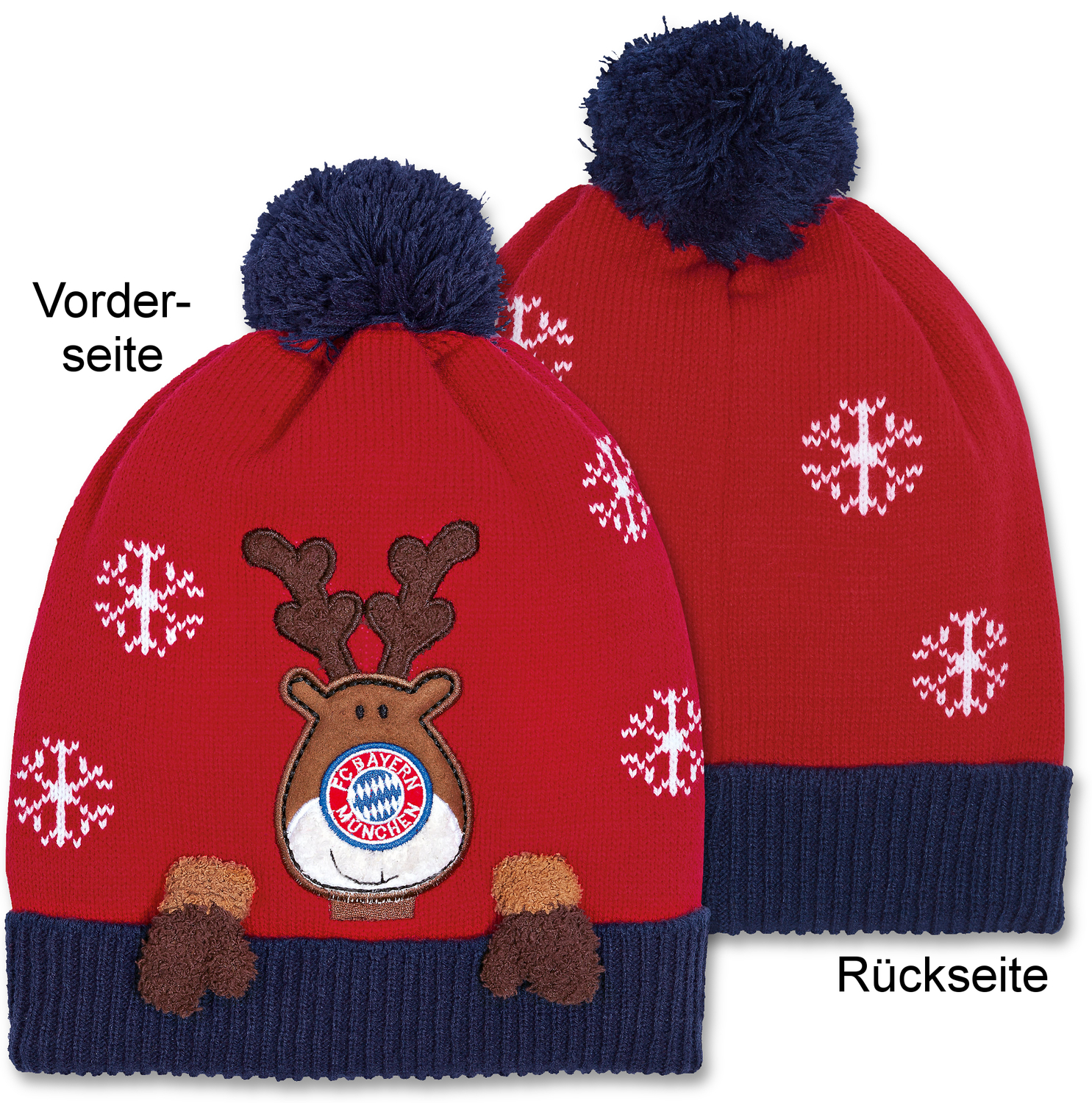 fc bayern m nchen beanie m tze christmas rot. Black Bedroom Furniture Sets. Home Design Ideas