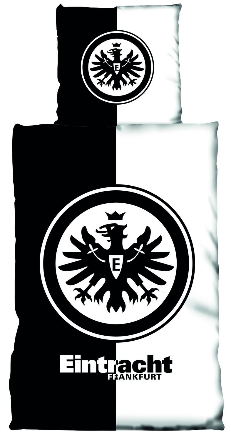 eintracht frankfurt bettw sche kontrast 135x200cm. Black Bedroom Furniture Sets. Home Design Ideas