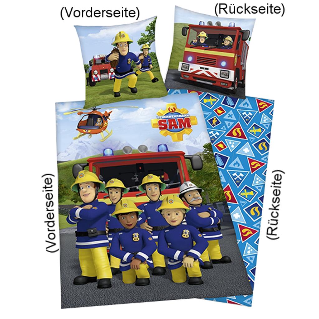 Feuerwehrmann Sam Bettwäsche Team 135x200cm