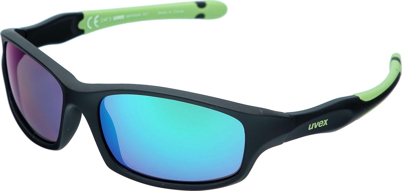 Uvex Sportstyle Kinder Sonnenbrille 507 schwarz grün